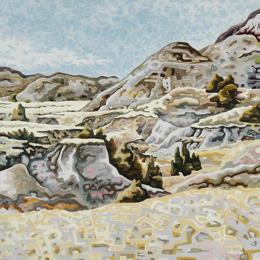 Makoshika State Park Painting - Makoshika State Park #1 by Dale Beckman
