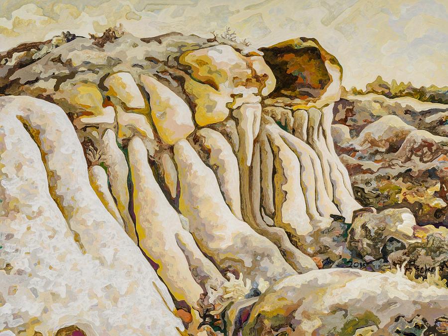 Makoshika State Park Painting - Makoshika State Park #10 by Dale Beckman