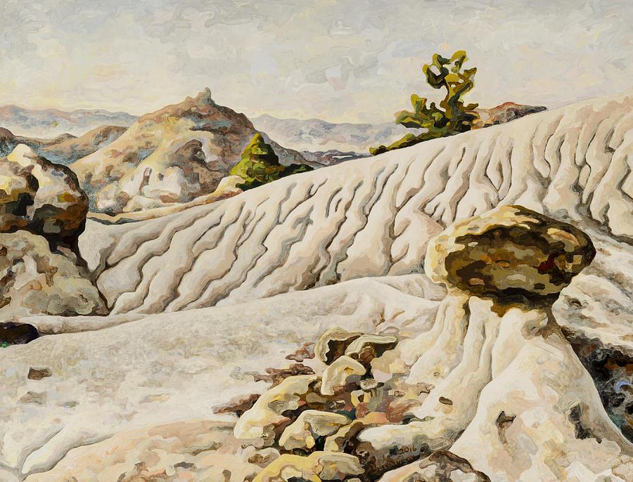 Makoshika State Park Painting - Makoshika State Park #11 by Dale Beckman