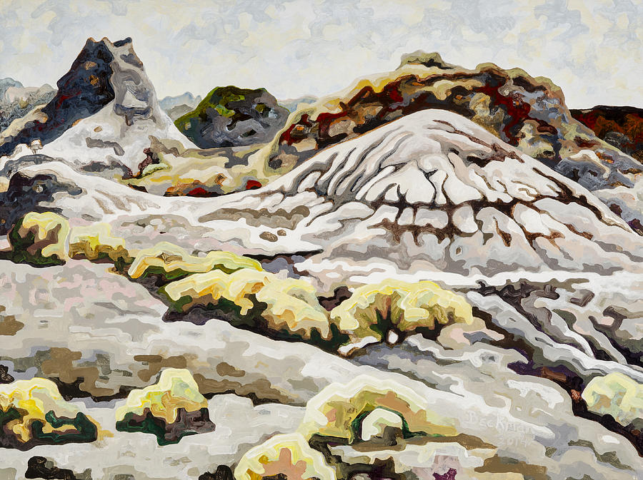 Makoshika State Park Painting - Makoshika State Park #5 by Dale Beckman