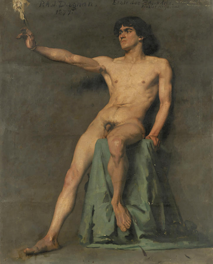 Male Nude Study by Pascal Dagnan-Bouveret