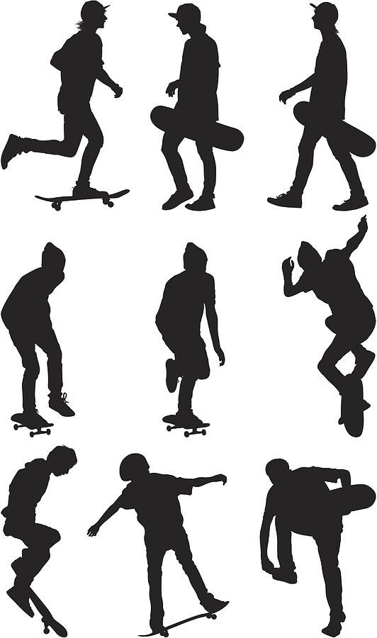 Male skate boarders Drawing by 4x6