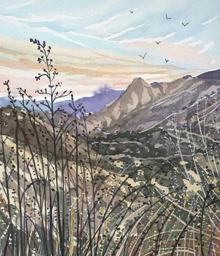 Malibu Creek Winter Dusk Painting