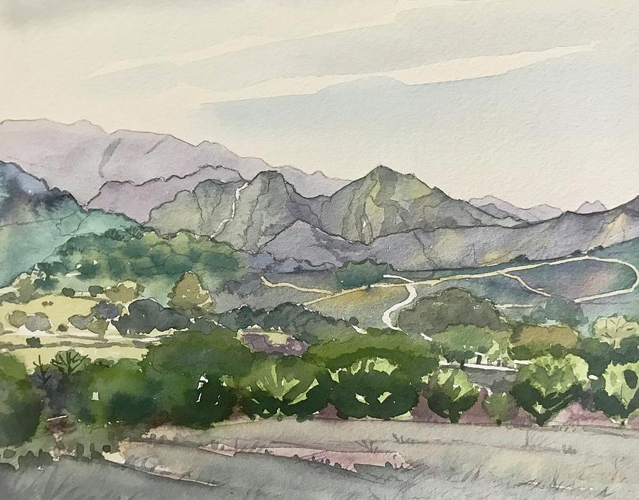 Malibu Creek - Winter Painting