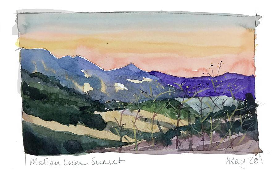 Malibu Sunset Painting