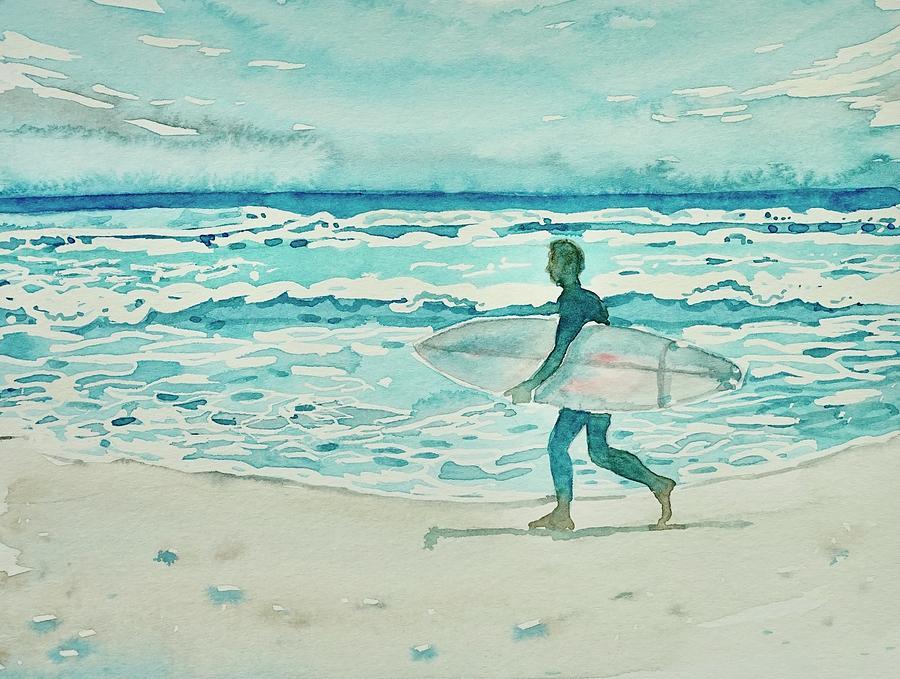 Malibu Surfer Painting