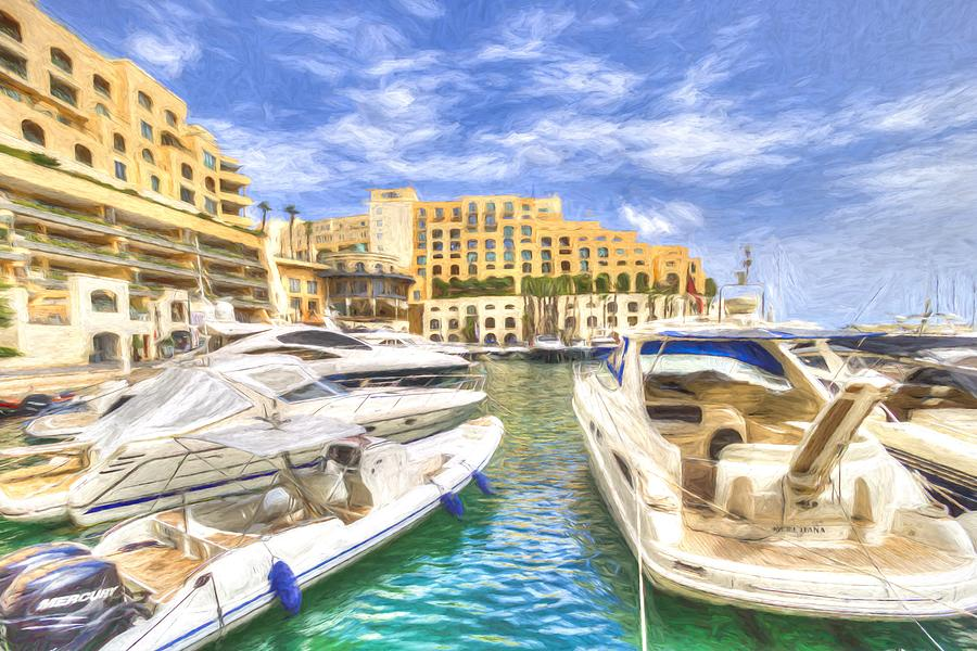 Malta Marina Art Photograph