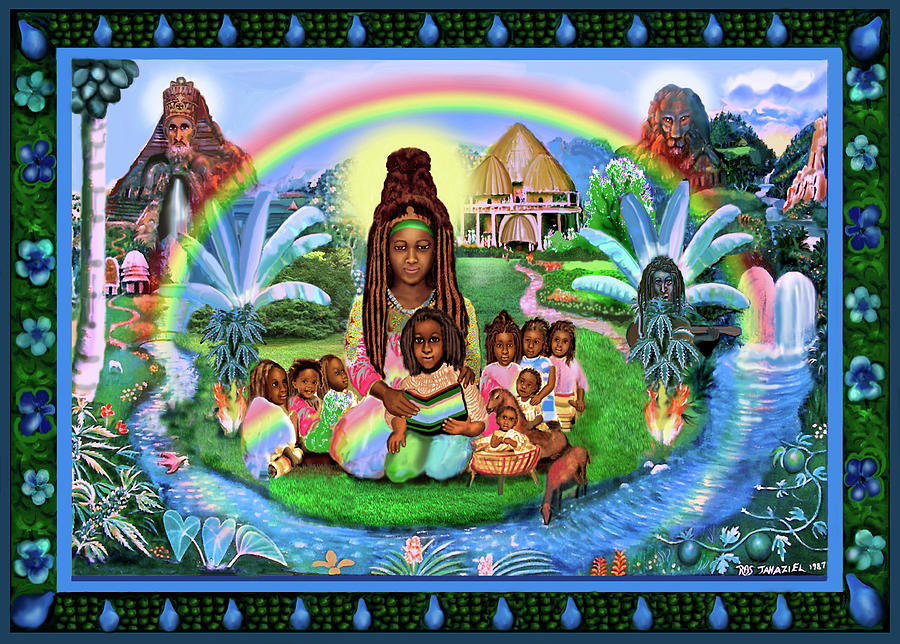 Oil Painting Painting - Mama Ifrica by Ras Jahaziel I Iktor Tafari