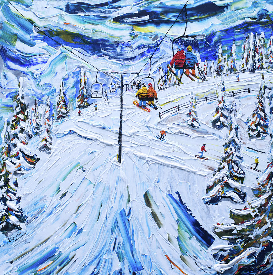 Mammoth Mountain California Ski Print USA by Pete Caswell