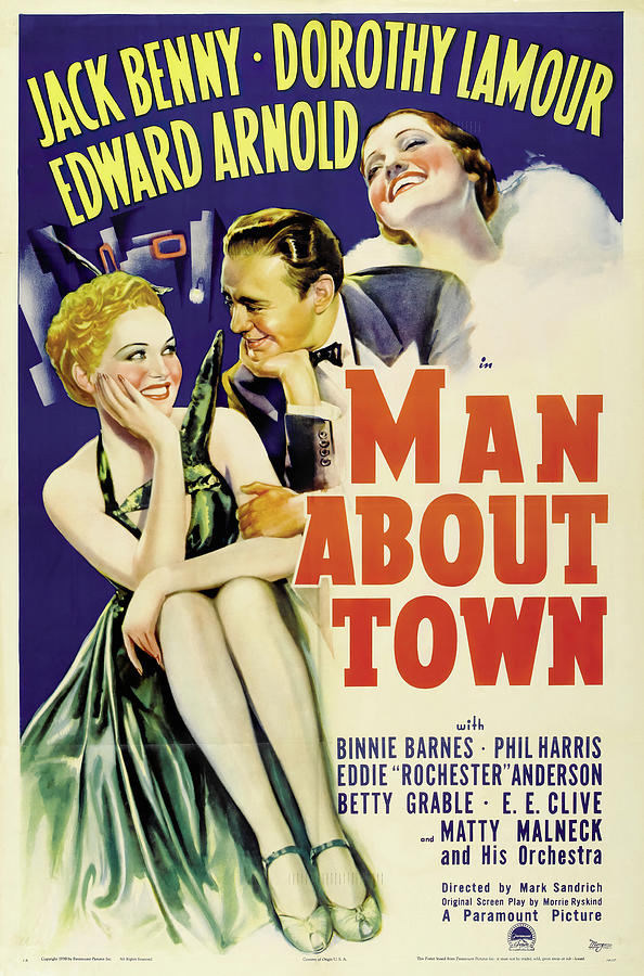 man About Town, With Jack Benny And Dorothy Lamour, 1939 Mixed Media