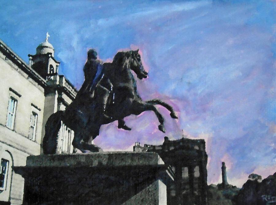 Man On The Horse -  Duke Of Wellington. Edinburgh Painting