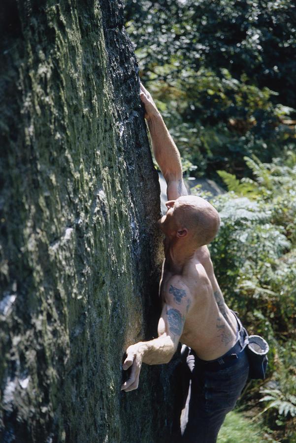 Man Rock Climbing Photograph by Heidi Coppock-Beard