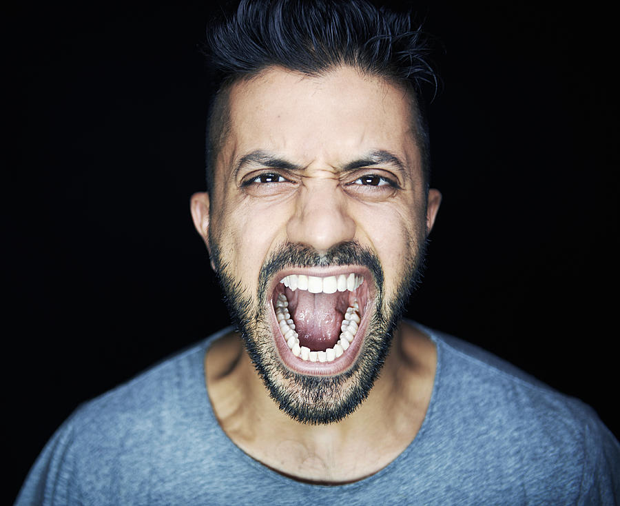 Man Shouting To Camera Photograph by Tara Moore