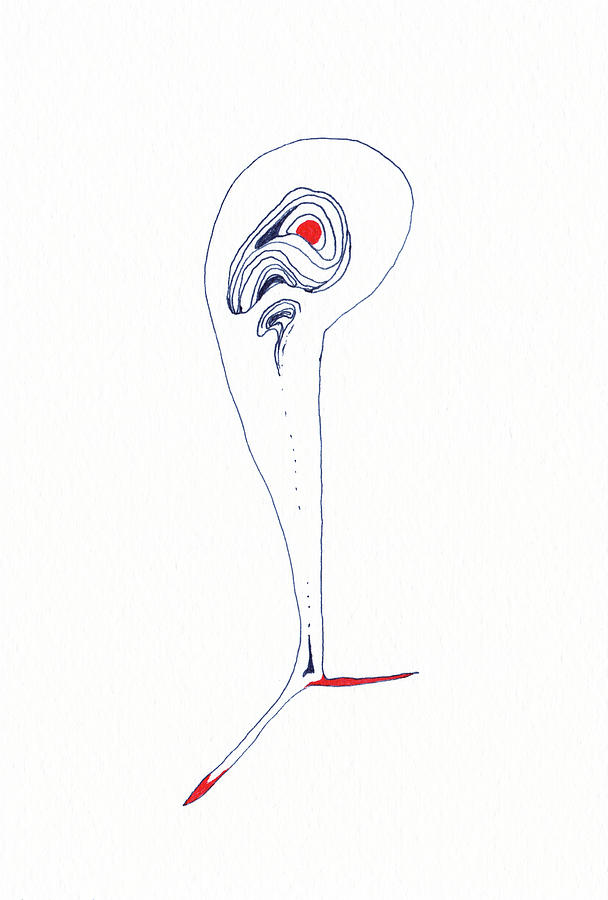 Lines Drawing - Man - #SS20DW006 by Satomi Sugimoto
