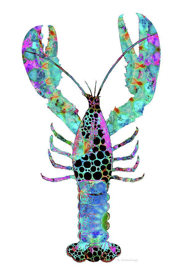 Lobster Painting - Mandala Lobster Art - Colorful Beach Seafood - Sharon Cummings by Sharon Cummings