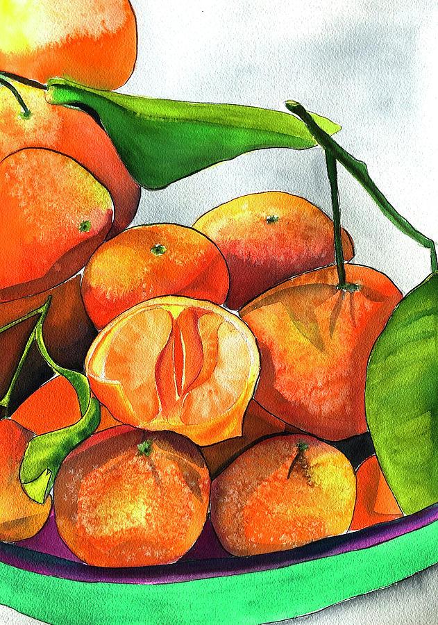 Mandarins Painting - Mandarins by Sacha Grossel
