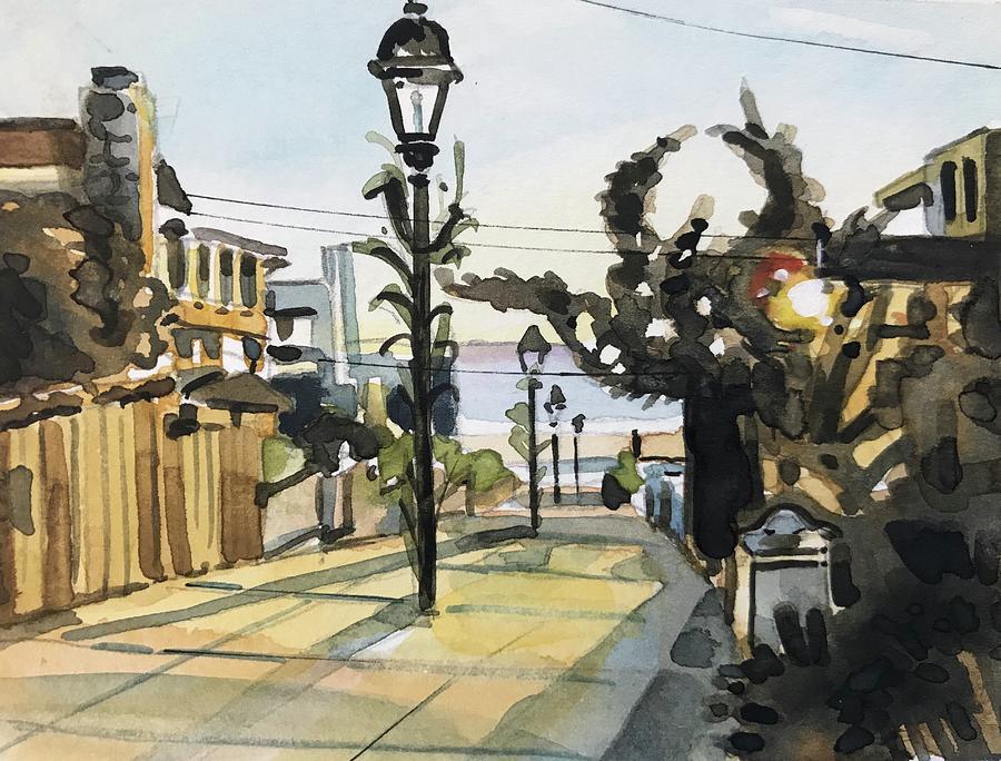 Manhattan Beach Sunset Painting