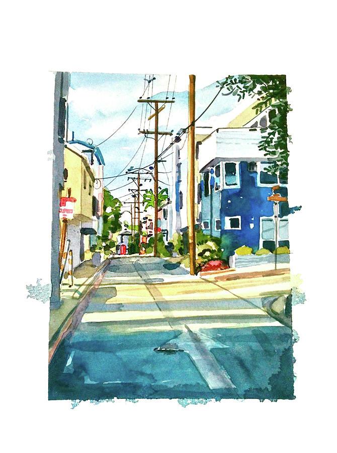 Manhattan Beach Sunny Day Painting