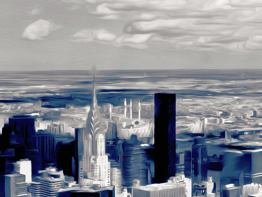 Manhattan Blues Dark Digital Art