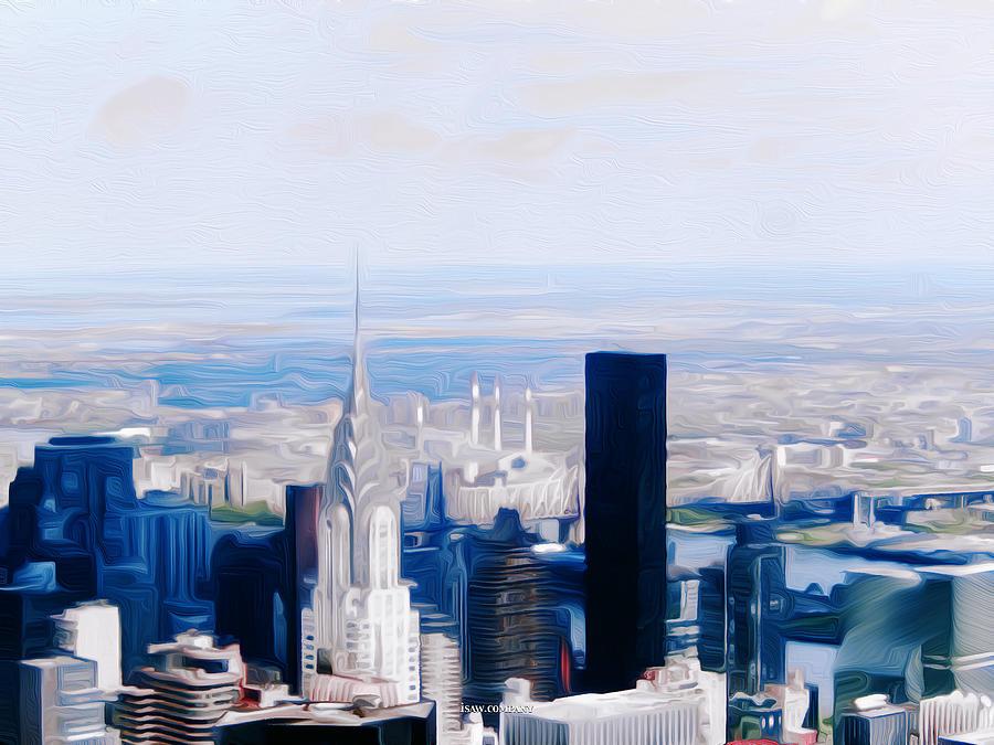 Manhattan Blues Light Digital Art