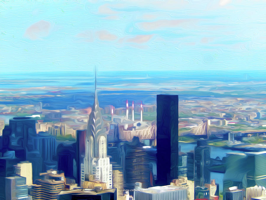 Manhattan Blues Medium Digital Art
