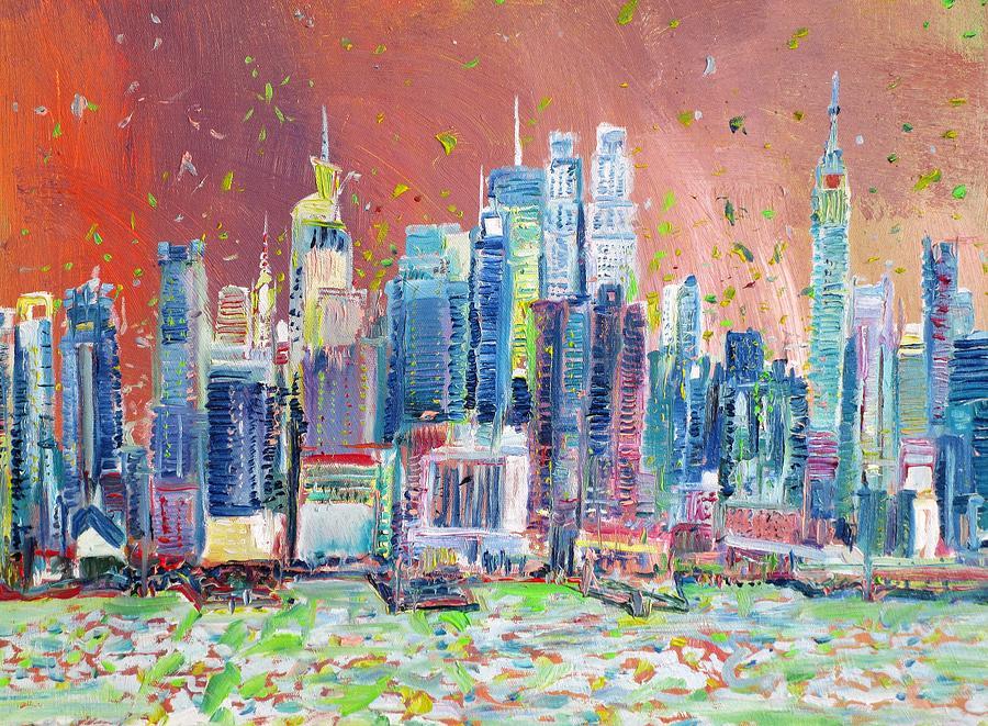 MANHATTAN - oil painting by Fabrizio Cassetta