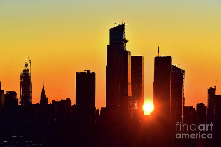 Manhattan Skyscrapers at Sunrise by Regina Geoghan