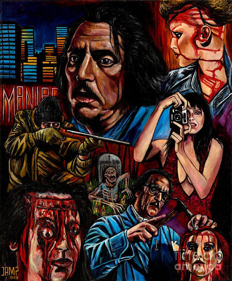 Maniac Painting - Maniac William Lustig by Jose Mendez