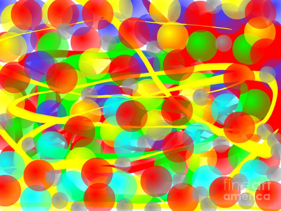 Abstract Digital Art - Manic by Ray Nichols