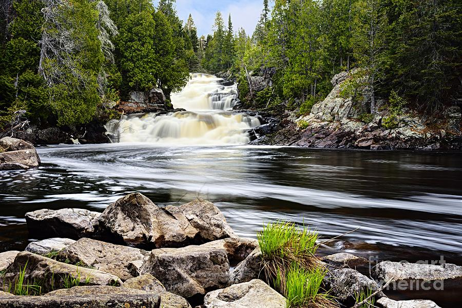 Manitou Falls in Spring by Larry Ricker