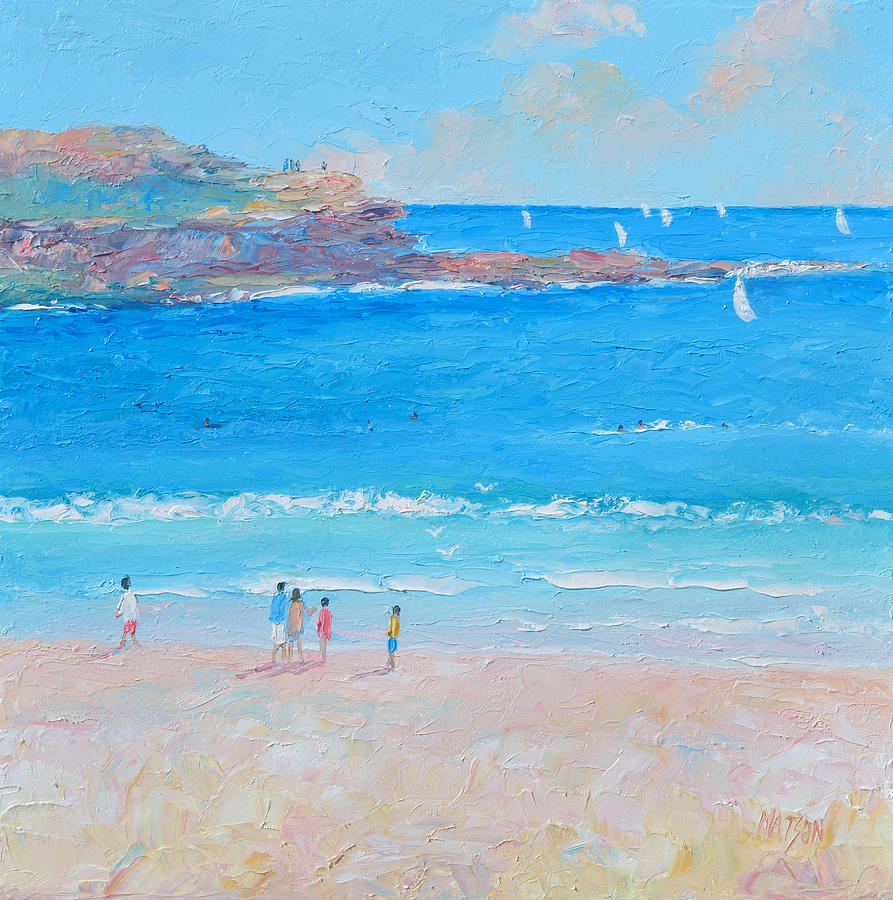 Manly Beach Sailing by Jan Matson