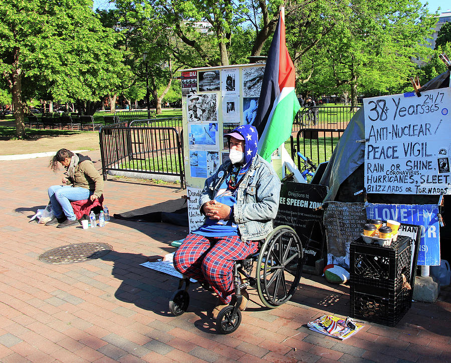 For Over 38 Years Someone Has Been Manning The Peace Vigil Photograph