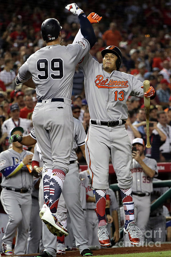 Manny Machado And Aaron Judge Photograph by Patrick Smith