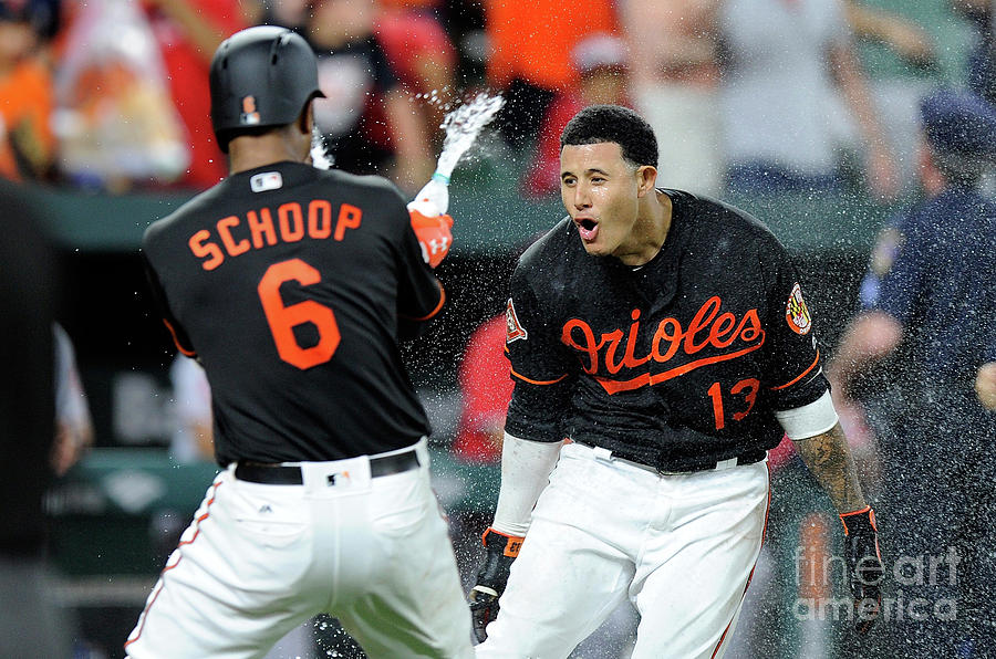 Manny Machado and Jonathan Schoop Photograph by Greg Fiume
