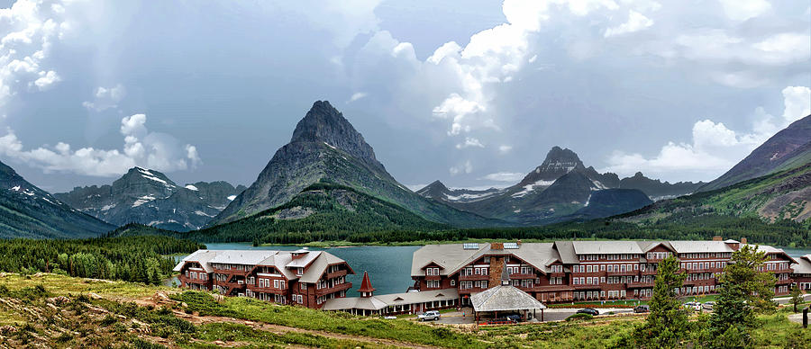 Buildings Photograph - Many Glacier Historic Hotel by John Trommer