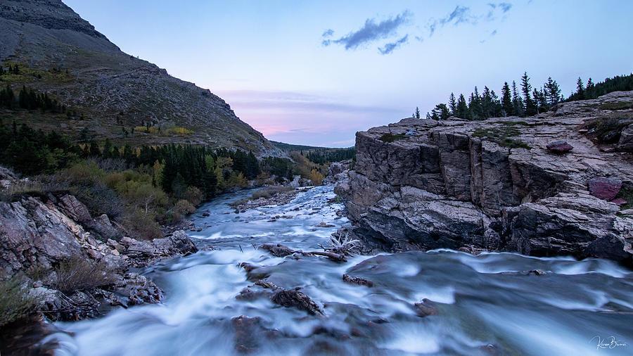 Many Glacier Rapids Signed by Karen Biwersi