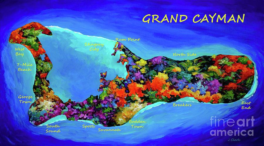 Map Of Cayman Digital Art