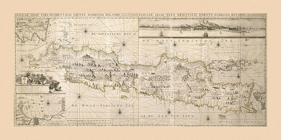 Map Of Java 1753 Photograph