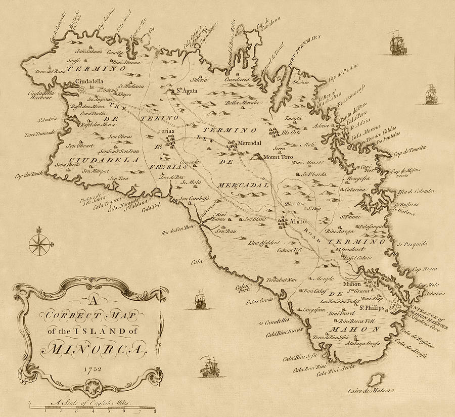Map Of Minorca 1752 Photograph