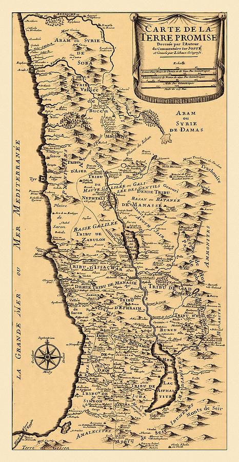 Map Of Palestine 1720 Photograph