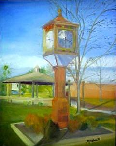Maple Shade Painting - Maple Shade Clock by Sheila Mashaw