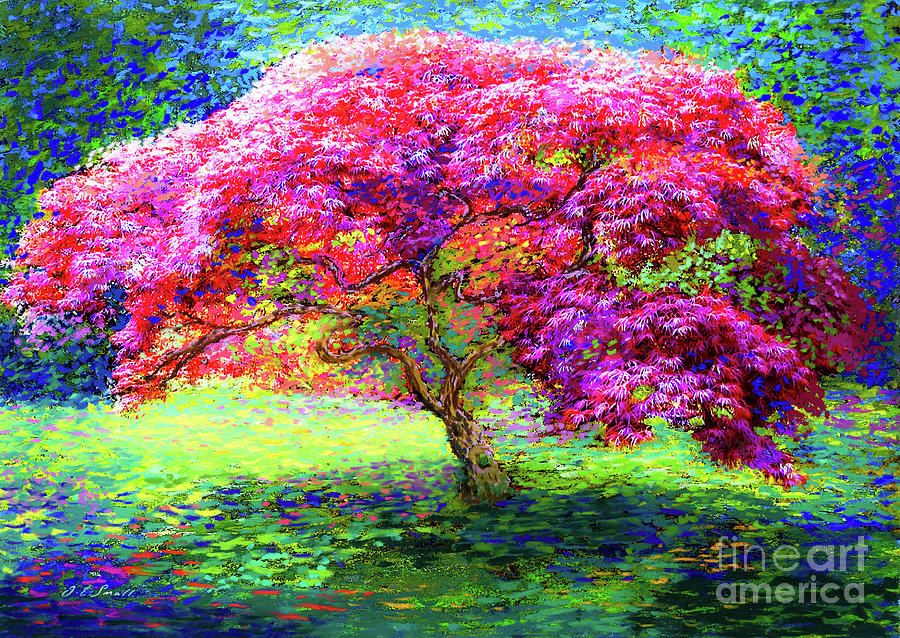 Landscape Painting - Maple Tree Magic by Jane Small