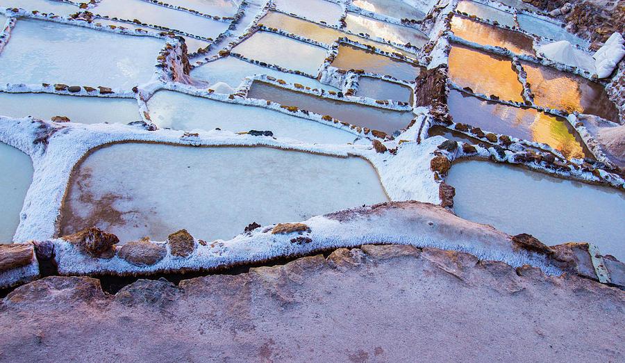 Salt Ponds Photograph - Maras Salt Ponds, Cusco Region, Peru by Venetia Featherstone-Witty