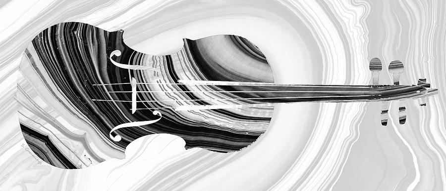 Violin Painting - Marbled Music Art - Violin - Sharon Cummings by Sharon Cummings