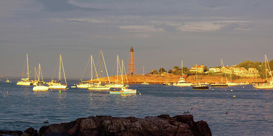 Marblehead Sunset From Fort Beach Photograph