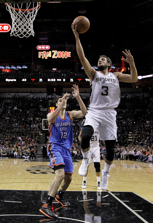 Marco Belinelli and Steven Adams Photograph by Chris Covatta