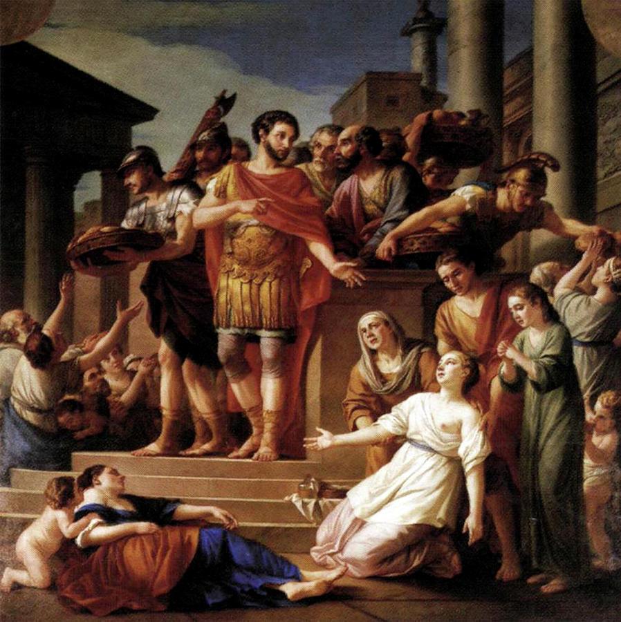 Marcus Aurelius Distributing Bread by Joseph Marie Vien