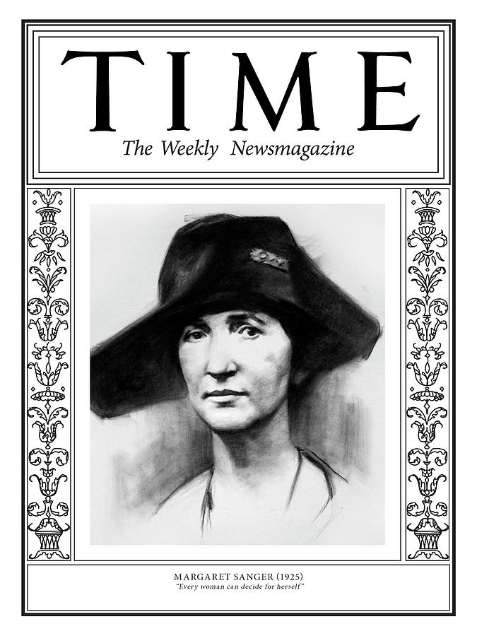 Time Photograph - Margaret Sanger, 1925 by Illustration by Matt Smith for TIME