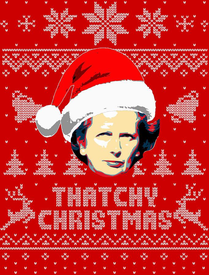 Santa Digital Art - Margaret Thatcher Thatchy Christmas by Filip Schpindel