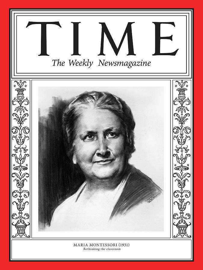 Time Photograph - Maria Montessori, 1931 by Illustration by Matt Smith for TIME